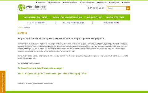 Screenshot of Jobs Page wondercide.com - Career Opportunities at Wondercide - captured Oct. 31, 2014