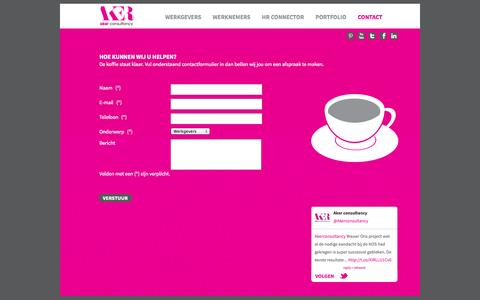 Screenshot of Contact Page akerconsultancy.nl - Aker consultancy | Contact - captured Sept. 30, 2014