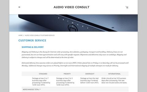 Screenshot of Support Page avc.bg - Audio Video Consult Customer Service - captured Feb. 6, 2016