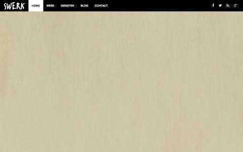 Screenshot of Home Page Blog Contact Page swerk.nl - Webdesign Bureau Amsterdam - Swerk Everything Online - captured Sept. 23, 2014