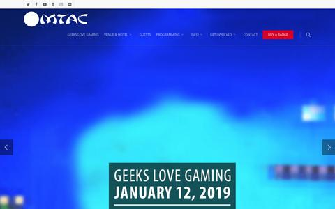 Screenshot of Home Page mtac.net - MTAC Lunar | April 19 - 21, 2019 | Nashville, TN - captured Dec. 20, 2018