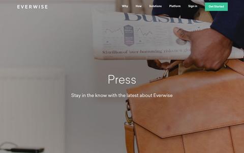 Screenshot of Press Page geteverwise.com captured Nov. 12, 2016