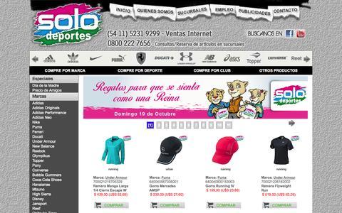 Screenshot of Home Page solodeportes.com.ar - Solo Deportes - captured Sept. 24, 2014