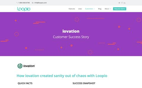 Screenshot of Case Studies Page loopio.com - iovation Case Study | Loopio RFP Software - captured July 17, 2016
