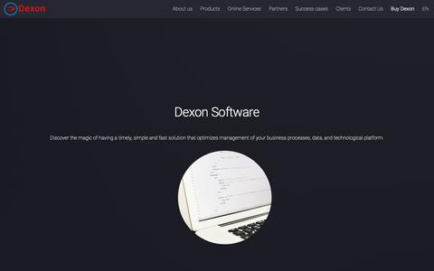 Screenshot of Home Page dexon.us - Dexon Software - captured Oct. 8, 2018