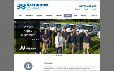 Screenshot of Testimonials Page thebathroomcompany.co.uk - Testimonials - The Bathroom Company   What our current bathroom customers have to say about us - captured Oct. 26, 2014