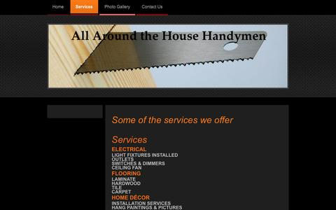 Screenshot of Services Page allaroundthehousehandymen.com - All Around the House Handyman - Services - captured Feb. 5, 2016