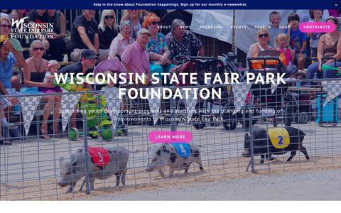 Screenshot of Home Page wsfpfoundation.org - Wisconsin State Fair Park Foundation - captured Oct. 31, 2018