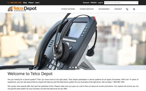 Screenshot of Home Page telcodepot.com - Business Phone System | IP Phone Systems | TelcoDepot.com - captured June 13, 2017