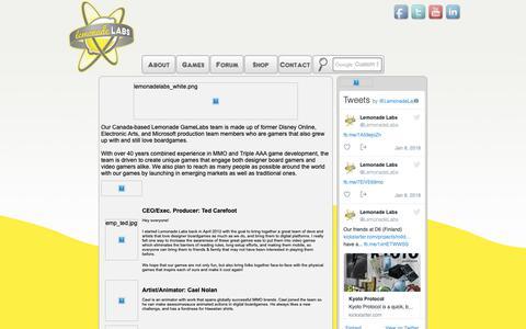 Screenshot of About Page lemonadelabs.ca - Lemonade Labs :: About Us - captured Sept. 28, 2018