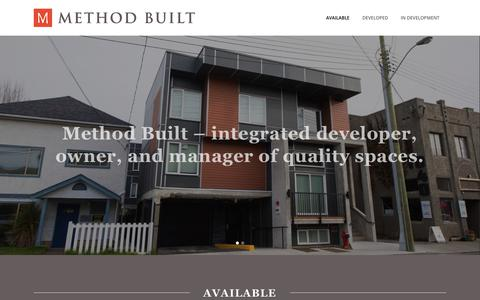 Screenshot of Home Page methodbuilt.ca - Method Built ~ Construction Victoria ~ Architecture Victoria ~ Custom Homes Victoria ~ Victoria BC Canada. - captured Oct. 18, 2017