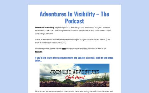 Adventures In Visibility - The Podcast
