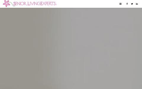 Screenshot of Home Page seniorlivingexperts.com - Home - Senior Living Experts - captured Oct. 7, 2014