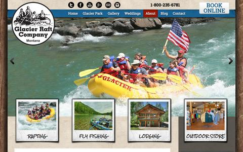 Screenshot of About Page glacierraftco.com - About Us | Glacier Raft Company - captured Oct. 28, 2014