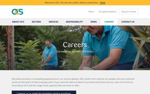 Screenshot of Jobs Page ocs.com - OCS Group NZ - Careers - captured Oct. 26, 2017