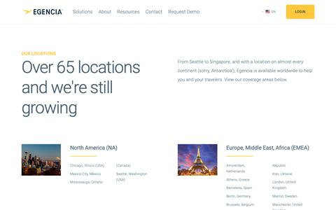 Screenshot of Locations Page egencia.com - Locations - Egencia - captured Oct. 21, 2018