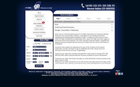 Screenshot of Terms Page goair.in - GoAir - Terms & Conditions - captured Sept. 18, 2014