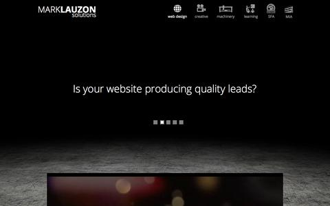 Screenshot of Home Page marklauzon.com - Solutions for the Stone Industry - captured Jan. 30, 2015
