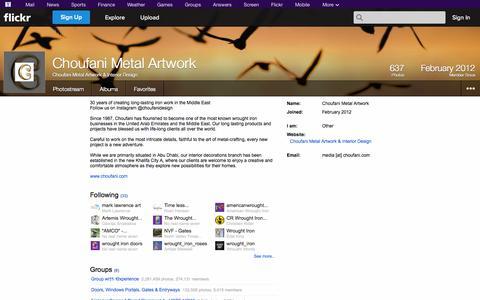 Screenshot of Flickr Page flickr.com - Flickr: Choufani Metal Artwork & Interior Design - captured Oct. 22, 2014