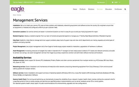 Screenshot of Services Page eagle.in - Services - www.eagle.in - captured Aug. 18, 2019
