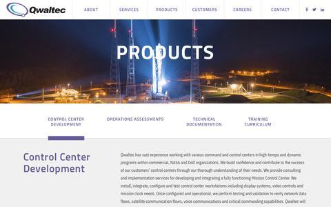 Screenshot of Products Page qwaltec.com - Products – Qwaltec - captured Nov. 5, 2018