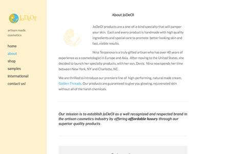 Screenshot of About Page jodeol.com - About — JoDeOl - captured Oct. 6, 2014