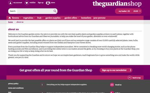 Screenshot of About Page theguardian.com - About Us - captured Aug. 28, 2016