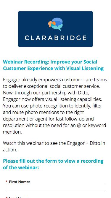 Webinar Recording: Improve your Social Customer Experience with Visual Listening
