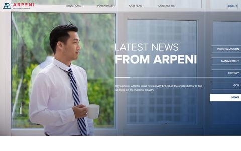 Screenshot of Press Page apol.co.id - Arpeni - News - captured Oct. 8, 2017