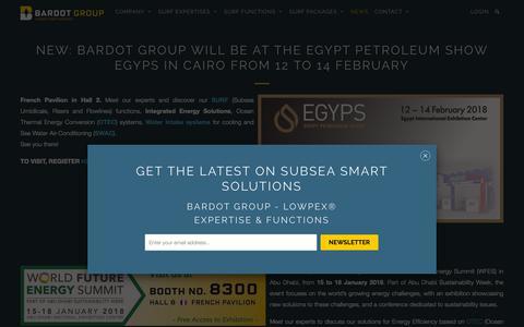 Screenshot of Press Page bardotgroup.com - BARDOT Group will be at the Egypt Petroleum Show EGYPS in Cairo - BARDOT GROUP - captured Oct. 1, 2018