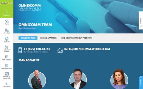 Screenshot of Team Page omnicomm-world.com - Page Contacts - Main Office - captured July 7, 2018