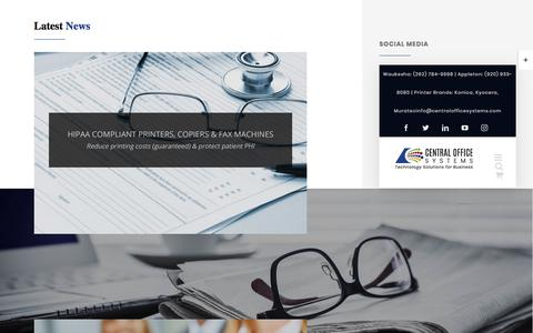 Screenshot of Press Page centralofficesystems.com - NEWS - Central Office Systems - captured Sept. 5, 2019
