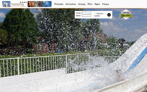 Screenshot of Home Page camping-beaujolais.com - Camping sud pour des vacances en Beaujolais proche de Lyon - captured Sept. 27, 2015