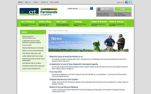 Screenshot of Press Page crt.co.nz - CRT - News - captured Oct. 1, 2014