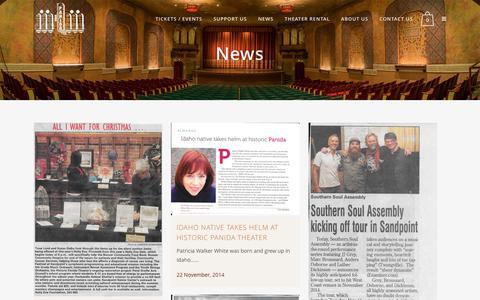 Screenshot of Press Page panida.org - News - captured June 25, 2016
