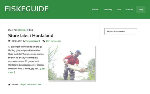 Screenshot of Blog thomaspilegaard.com - Blog - Fiskeguide - captured Oct. 6, 2014