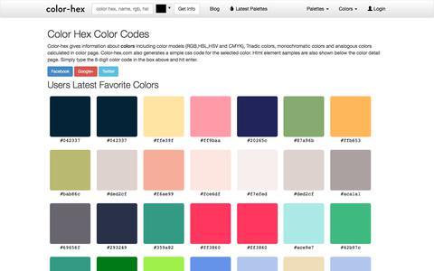 Screenshot of Home Page color-hex.com - Color Hex Color Codes - captured Sept. 21, 2018