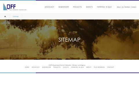 Screenshot of Site Map Page qff.org.au - Sitemap - Queensland Farmer's Federation - captured Nov. 15, 2016