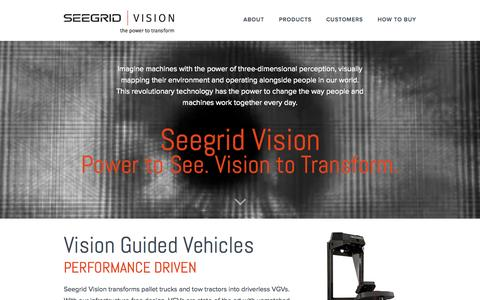 Screenshot of FAQ Page seegrid.com - 3D Vision Navigation | Vision Guided Vehicles | Seegrid - captured July 3, 2015
