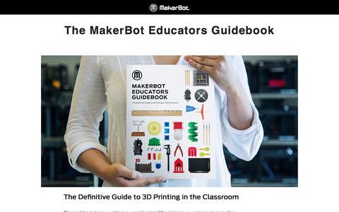 Screenshot of Landing Page makerbot.com - makerbot desktop 3d printers - captured Nov. 10, 2017