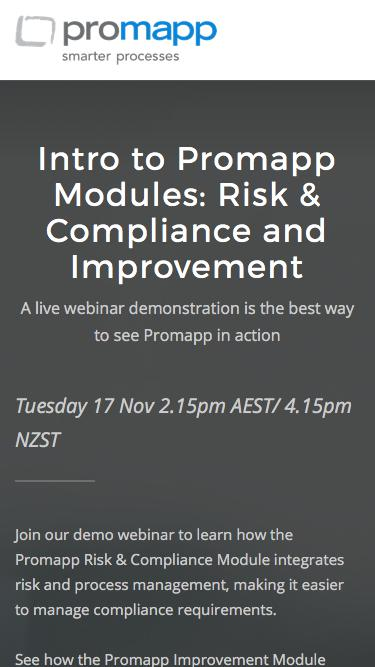 Webinar: Intro to Promapp Modules – Risk & Compliance and Improvement