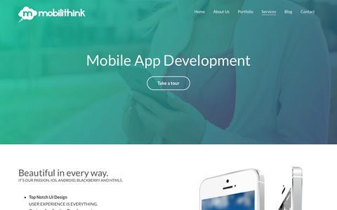 Screenshot of Services Page mobilithink.com - Services - Mobilithink - captured Sept. 21, 2018