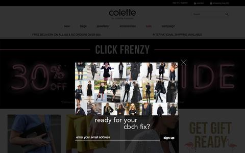 Screenshot of Home Page colettehayman.com.au - Colette Hayman | Fashion Accessories & Handbags Online - captured Nov. 15, 2016