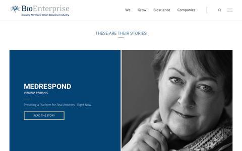 Screenshot of Case Studies Page bioenterprise.com - Case Studies | BioEnterprise - captured Aug. 2, 2018