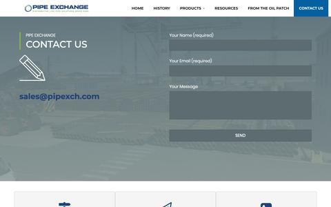 Screenshot of Contact Page pipexch.com - Contact Us – Pipe Exchange - captured Sept. 28, 2018