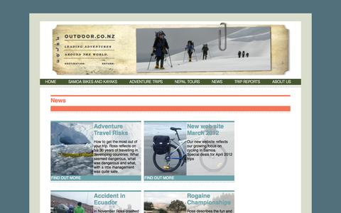 Screenshot of Press Page outdoor.co.nz - News » Outdoor - captured Oct. 26, 2014