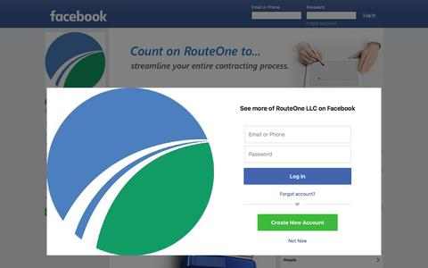 Screenshot of Facebook Page facebook.com - RouteOne LLC - Product/Service - 664 Photos | Facebook - captured Jan. 22, 2018