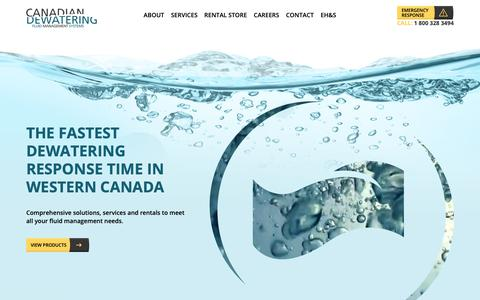 Screenshot of Home Page canadiandewatering.com - Home | Canadian Dewatering Fluid Management Systems - captured Nov. 9, 2018