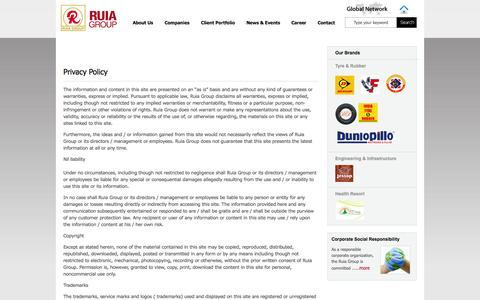 Screenshot of Privacy Page ruiagroup.co.in - Ruia Group : Privacy Policy - captured Oct. 7, 2014
