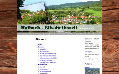 Screenshot of Site Map Page jimdo.com - Sitemap - haibach-elisabethszells Webseite! - captured March 18, 2017